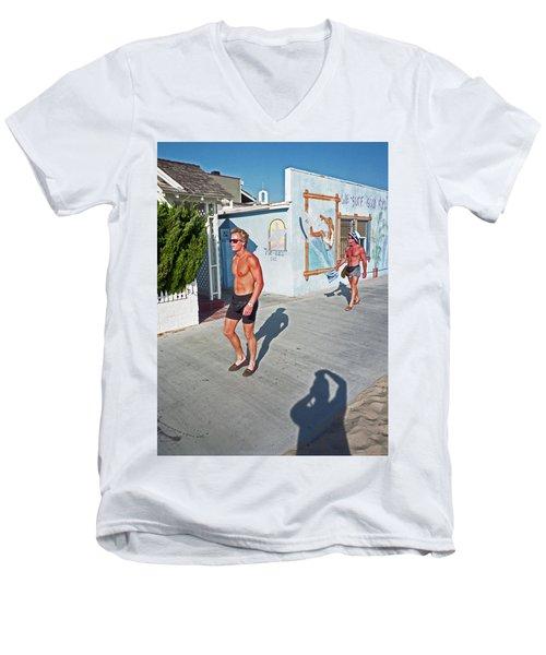 Three Beefcakes Men's V-Neck T-Shirt