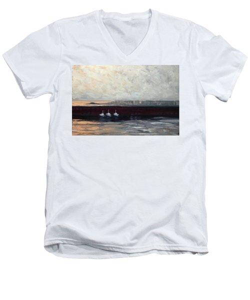 Three Boats Men's V-Neck T-Shirt
