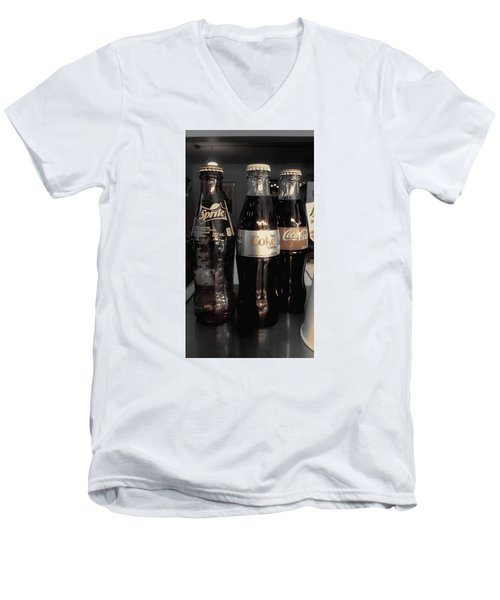 Three Bottles Full Men's V-Neck T-Shirt
