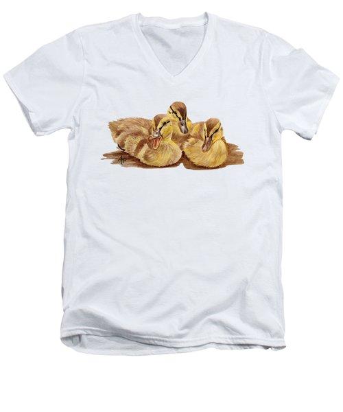 Three Ducklings Men's V-Neck T-Shirt