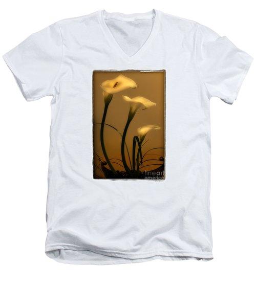 Three Lilies Men's V-Neck T-Shirt