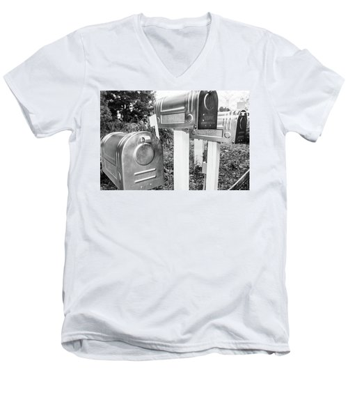 Three Mailboxes Men's V-Neck T-Shirt