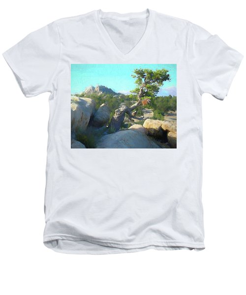 Three Peaks View Men's V-Neck T-Shirt