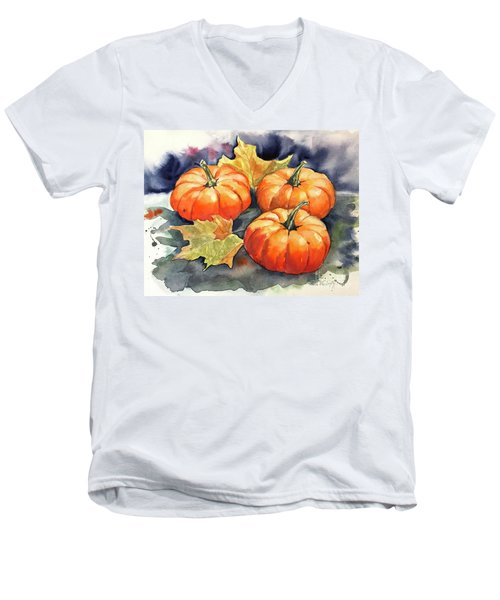 Three Pumpkins Men's V-Neck T-Shirt