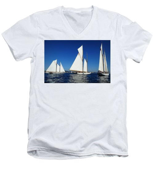 Three Schooners Men's V-Neck T-Shirt