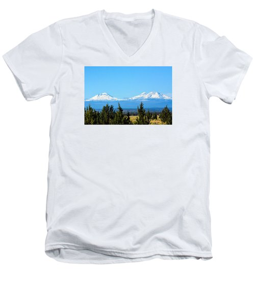 Three Sisters In The Fall Men's V-Neck T-Shirt