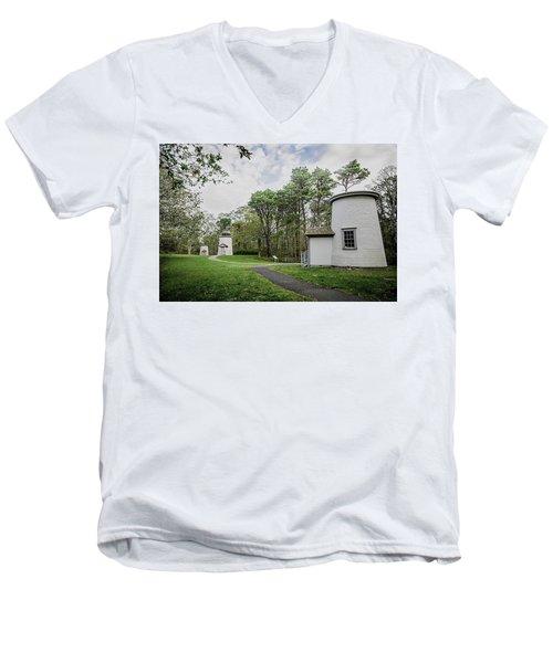 Three Sisters Lighthouses Men's V-Neck T-Shirt