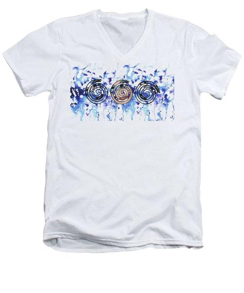 Three Spirals Men's V-Neck T-Shirt