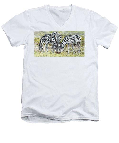 Three's Company Men's V-Neck T-Shirt