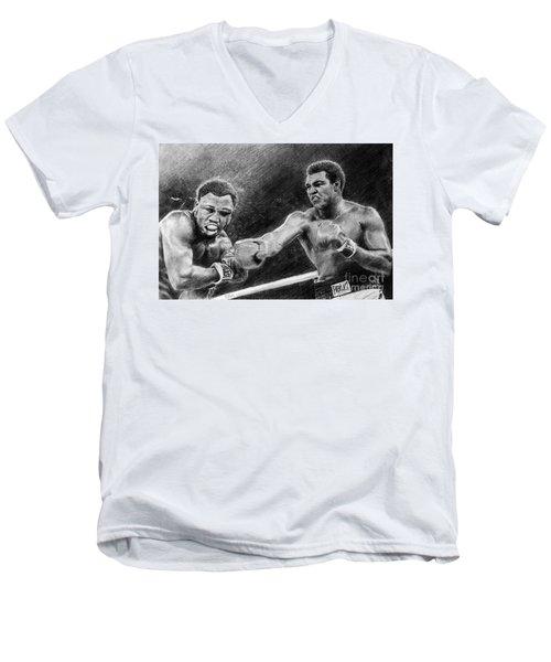 Thrilla In Manilla Pencil Drawing Men's V-Neck T-Shirt