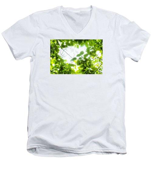Through The Leaves Men's V-Neck T-Shirt