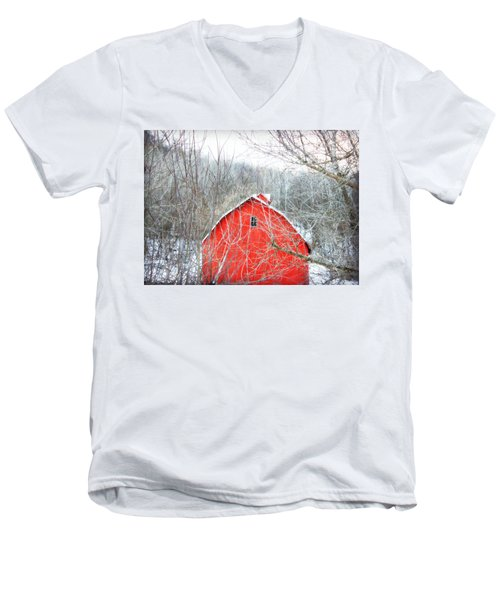 Men's V-Neck T-Shirt featuring the photograph Through The Woods by Julie Hamilton