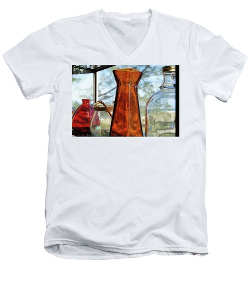 Thru The Looking Glass 1 Men's V-Neck T-Shirt by Megan Cohen