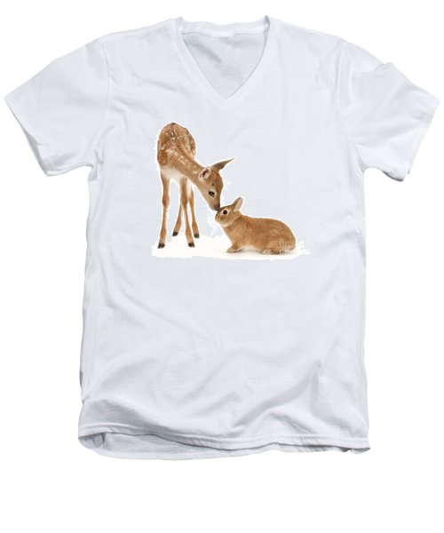 Thumper And Bambi Men's V-Neck T-Shirt