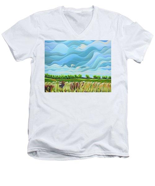 Thunder Sky Men's V-Neck T-Shirt