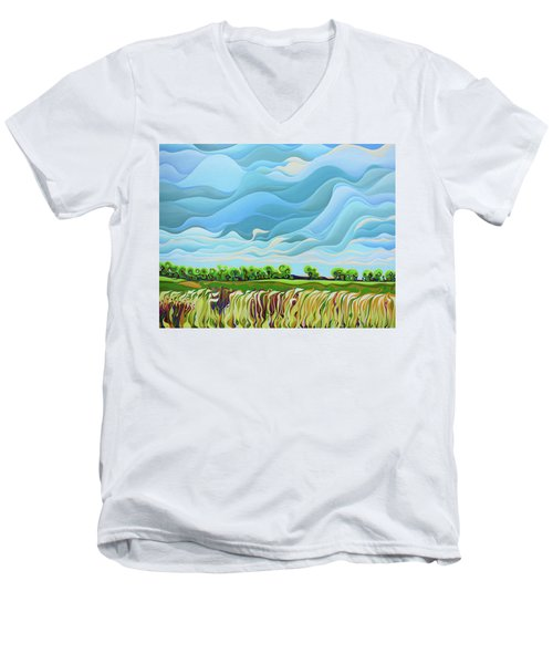 Thunder Sky Men's V-Neck T-Shirt