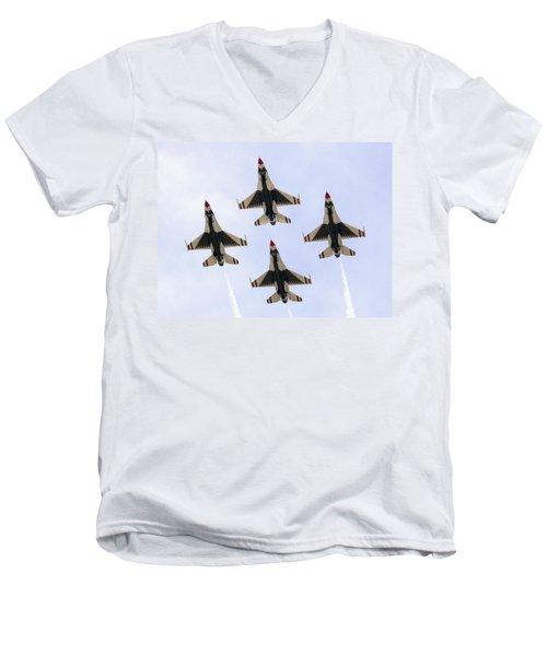Thunderbirds Away Men's V-Neck T-Shirt