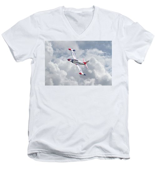 Men's V-Neck T-Shirt featuring the photograph Thunderbirds - T33 by Pat Speirs