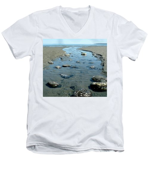 Men's V-Neck T-Shirt featuring the photograph Tidal Pools by 'REA' Gallery