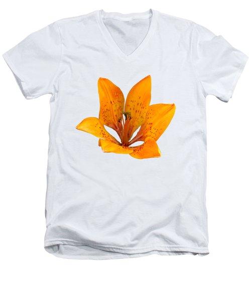 Tiger Lily 1 Trasparent Men's V-Neck T-Shirt