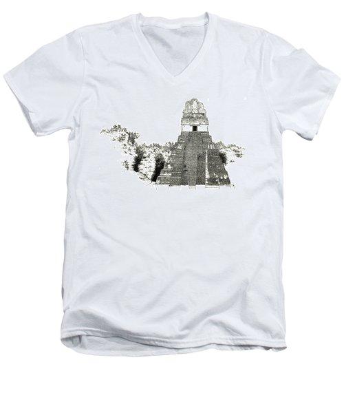 Tikal Temple I Men's V-Neck T-Shirt