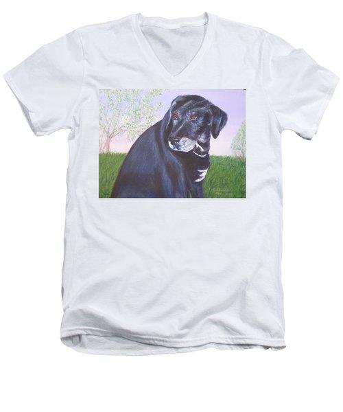 Tiko, Lovable Family Pet. Men's V-Neck T-Shirt