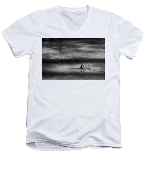 Men's V-Neck T-Shirt featuring the photograph Til Spring by Mark Fuller