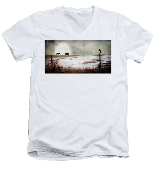 'til The Cows Come Home Men's V-Neck T-Shirt
