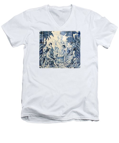 Tile Art Men's V-Neck T-Shirt