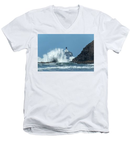 Tillamook Rock Light House, Oregon - Terrible Tilly Men's V-Neck T-Shirt