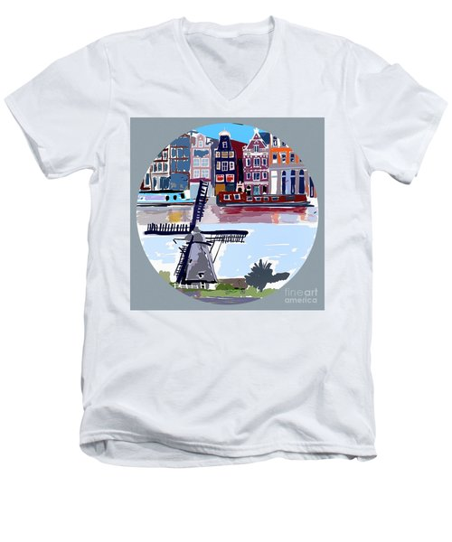 Tilting Windmills Men's V-Neck T-Shirt