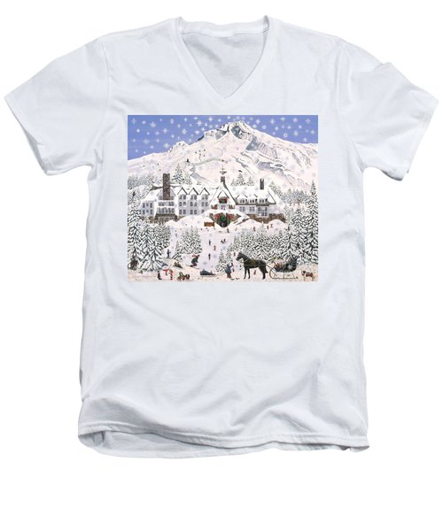Timberline Lodge Men's V-Neck T-Shirt