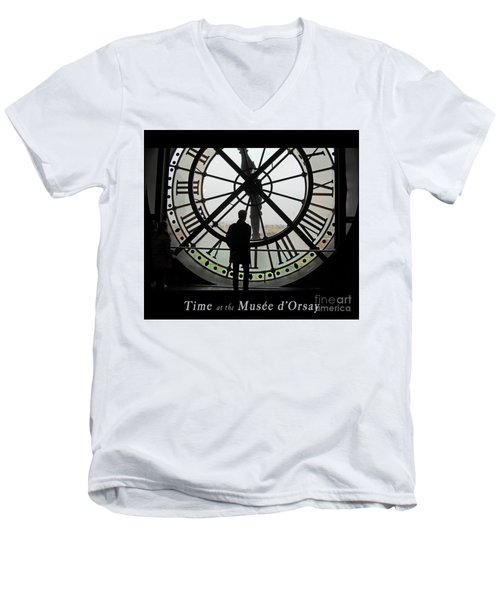 Time At The Musee D'orsay Men's V-Neck T-Shirt by Felipe Adan Lerma
