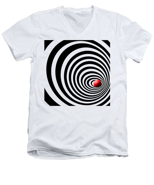 Time Tunnel Op Art Men's V-Neck T-Shirt by Methune Hively