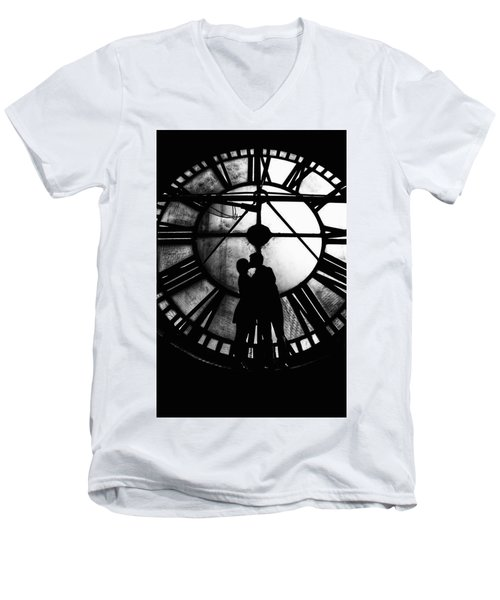 Timeless Love - Black And White Men's V-Neck T-Shirt
