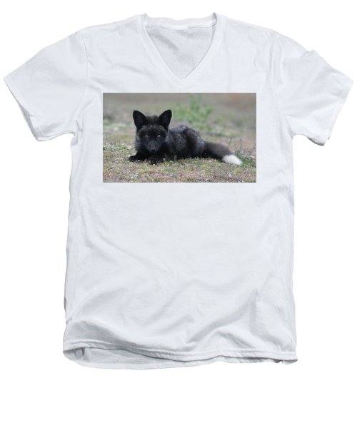 Men's V-Neck T-Shirt featuring the photograph Here's Looking At You by Elvira Butler