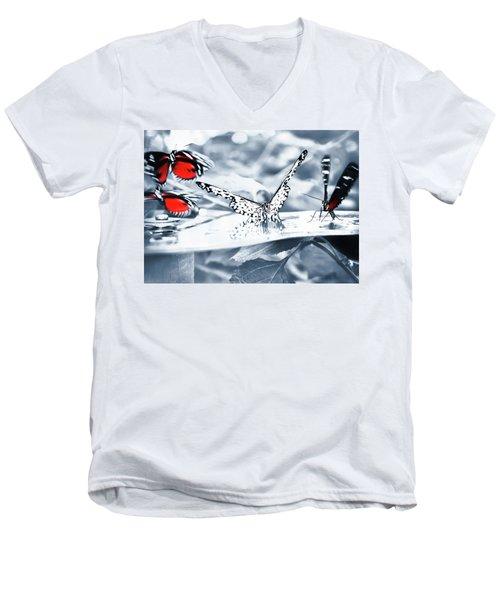 Times Of Butterflies Men's V-Neck T-Shirt