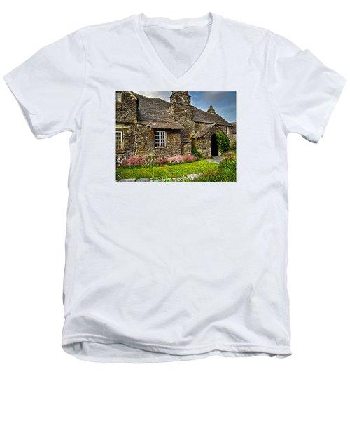 Tintagel Cottage Men's V-Neck T-Shirt