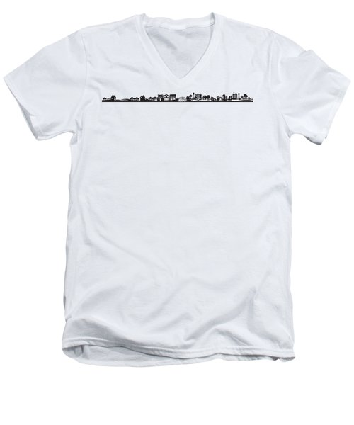 Tinytown Strip Men's V-Neck T-Shirt