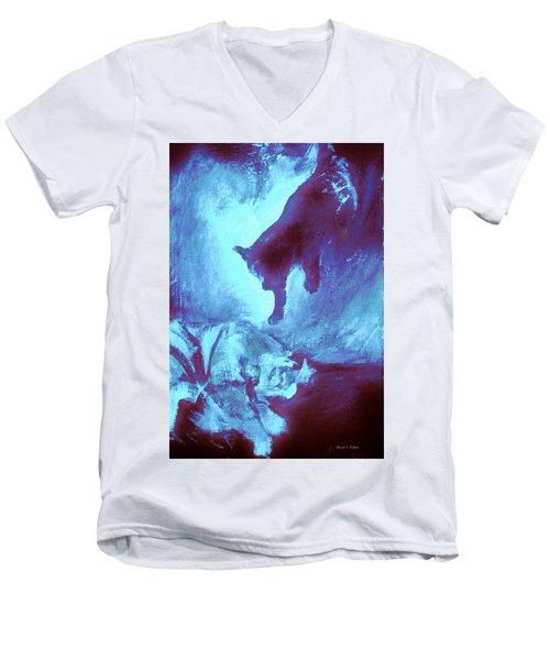 Tip Toeing On Little Cat Feet Men's V-Neck T-Shirt