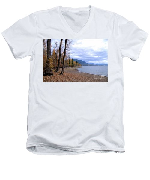 The Song Of October Men's V-Neck T-Shirt by Victor K