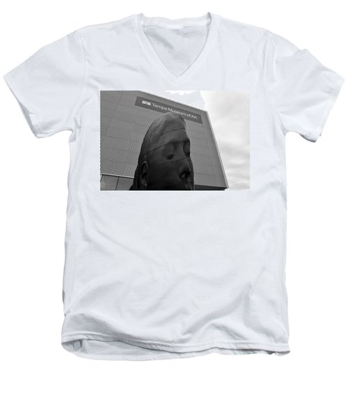 Men's V-Neck T-Shirt featuring the photograph Tampa Museum Of Art Work B by David Lee Thompson