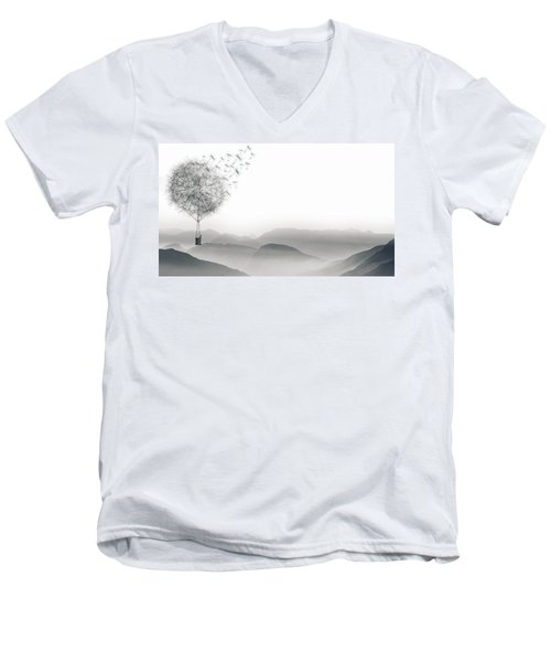 To Fly Only For A Moment Men's V-Neck T-Shirt