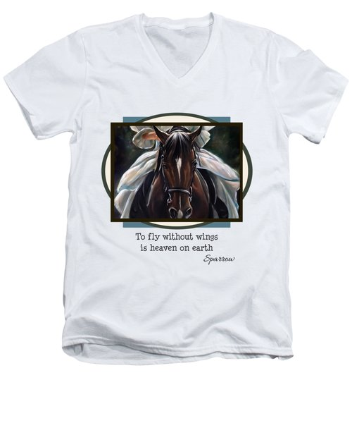 To Fly Without Wings Men's V-Neck T-Shirt