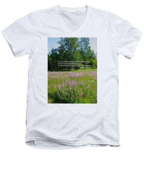 To Live Light In The Spring Men's V-Neck T-Shirt by Deborah Dendler