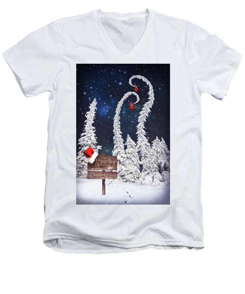 To The North Pole Men's V-Neck T-Shirt