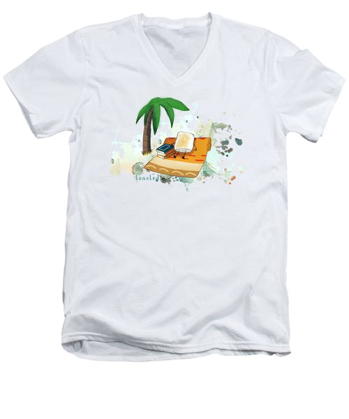 Toasted Illustrated Men's V-Neck T-Shirt by Heather Applegate
