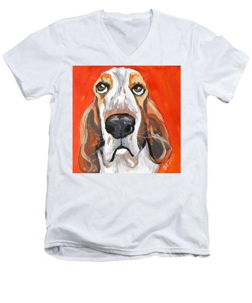 Toby Men's V-Neck T-Shirt by Barbara O'Toole
