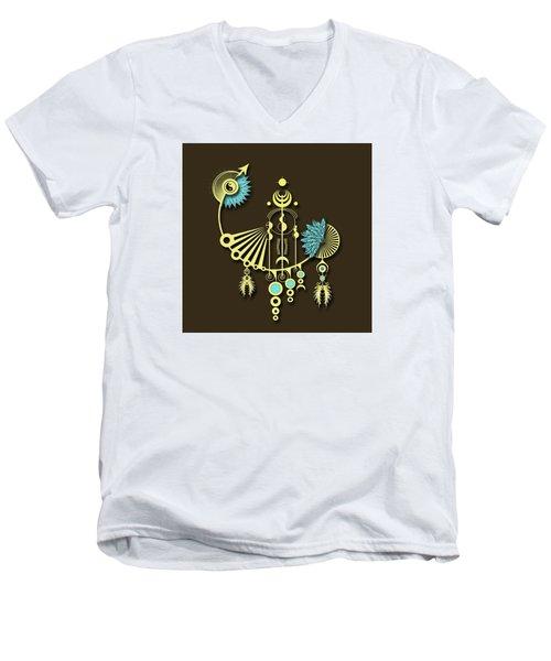 Tock Men's V-Neck T-Shirt by Deborah Smith