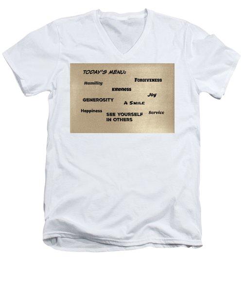 Today's Menu #1 Men's V-Neck T-Shirt